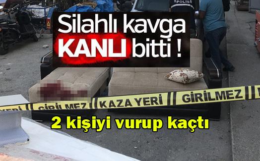 Şehir merkezinde iki kişiyi vurup kaçtı