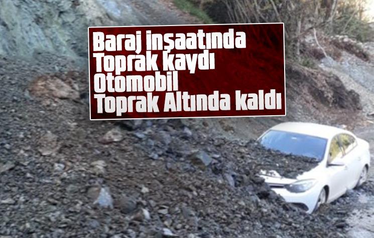 Baraj inşaatında toprak kaydı